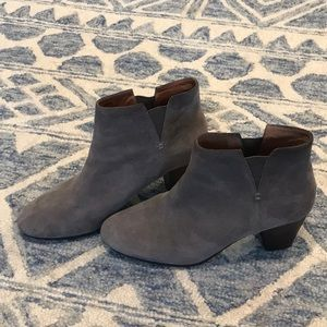Gentle Souls Ankle Boots Grey Suede Size 8.5M